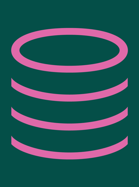 Decimal triple stacked circles icon